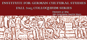 COLLOQUIUM, November 22nd